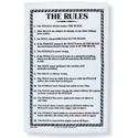 The Rules - Linen Tea Towel