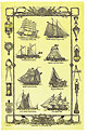 Sailing Ships - Linen Tea Towel