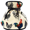 Rooster Tea Cosy, Muff Style Tea Cozy