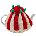 Red Roses Knitted Tea Cozy