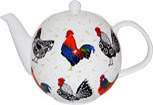 Rooster Bone China Teapot - 6 Cup