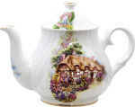 English Cottage Bone China Teapot - 6 Cup