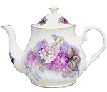 Hydrangea Bone China Teapot - 6 Cup