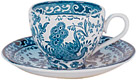 Burleigh - Cup & Saucer - Blue Asiatic birds
