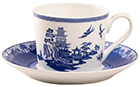 Blue Willow Cup and Saucer Set