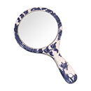 Blue Willow Hand Mirror, 3-3/8D
