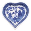 Heart Shaped Blue Willow Tray, 3.5