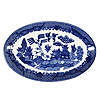 Mini Blue Willow Oval Plate