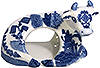 Blue Willow Cow Shape Napkin Ring, 4L