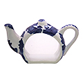 Blue Willow Teapot Shape Naption Holder, 2.25H