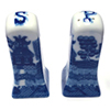 Blue Willow Salt and Pepper Shakers, 3H