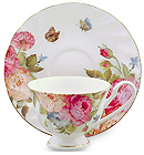 Sandras Rose Cup and Saucer Set