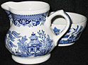 Churchill Blue Willow Ware, Cream & Sugar Set