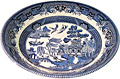 Churchill, Blue Willow Ware 8 ; Soup Dish