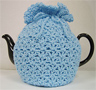 Knitted Tea Cozy, Blue, Large 6-8 Cup