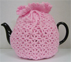Knitted Tea Cozy, Pink, Large 6-8 Cup