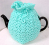 Knitted Tea Cozy, Teal, Large 6-8 Cup