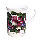 Fuchsia Flower Tea Mug