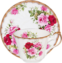 Summertime Rose Bone China Cup and Saucer