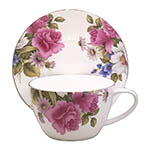 Graces Rose Jumbo Breakfast Cup & Saucer Set