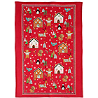 Linen Tea Towel Festive Friends