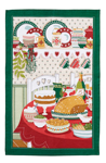 Turkey Feast Linen Tea Towel