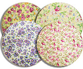 Royal Victorian Chintz 8  Plates, Assorted Prints