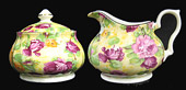 Royal Victorian Chintz, Covered Cream and Sugar Set - Sevilla Chintz