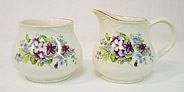 Violets - Cream & Sugar Set
