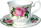 Bone China Tea Cup and Saucer, Lyric Rose