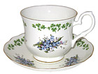 Shamrock & Forget-Me-Not - Bone China Tea Cup and Saucer Set