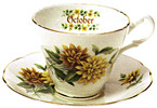 Flower of the Month, October - Cup and Saucer