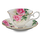 Rose Bouquet Cup and Saucer Set