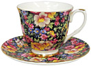 Summer Meadow Chintz - Bone China Tea Cup and and Saucer