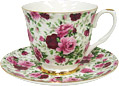 Summertime Rose - Chintz Tea Cup and and Saucer