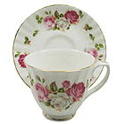 Summer Bloom Cups and Saucers