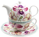 Tea for One Teapot Set - Orchid Garden