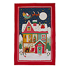 Santas Workshop Linen Tea Towel