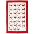 Reindeer Linen Tea Towel