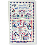 Linen Tea Towel - Wedding Sampler
