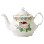 Vintage Rose Fine Bone China Teapot, 6-Cup